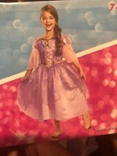 Rapunzel Girls Princess Disney Tangled Costume Dress Size M 7-8