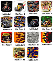Lampshades Ideal To Match Vintage & Retro Hot Rods Duvets & Hot Rods Wall Art.
