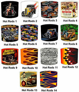 Hot Rods Cars Lampshades, Ideal To Match Duvets Wallpaper Stickers Duvets