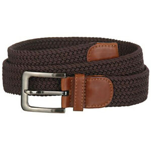 Mens Designer Braided Stretch Belts - Casual Golf Belt