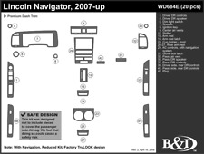 LINCOLN NAVIGATOR 2007 2008 2009 2010 2011 DASH TRIM e