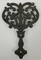 VINTAGE Cast Iron Footed Trivet Pineapple/Cat Design #540/II Farmhouse Décor