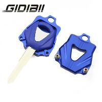 Motorcycle Blank Key Decorable Blue Cover Key fit Yamaha XVS400 XVS1100 XT660