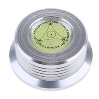 LP Vinyl Turntable disc stabilizer Record weight W/ Spirit Level,Silver
