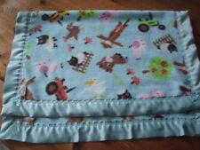 Pink john Deere tractor 43x34  xlg  flannel toddler personalized  blanket