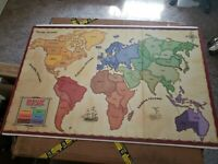 BOARD ONLY - 1993 RISK Game World Conquest Replacement Pieces