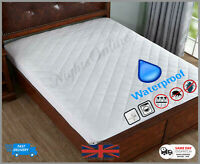 TOP QUALITY WATERPROOF QUILTED MATTRESS PROTECTOR SINGLE DOUBLE SUPER KING SIZE