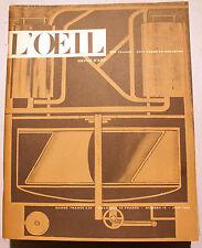 L'OEIL/REVUE/N°18/1956/STYLE AMERICAIN/PICABIA/RIOPELLE/BERTOIA/EAMES/