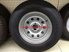 "15"" 5 Lug RADIAL Trailer Rim / Tire Wheel Assembly Silver MOD 205/75R15  C ply"