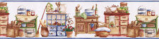 KITCHEN, Storage,TEA SET, POT, BREAD Cooking Wallpaper Border SK74392