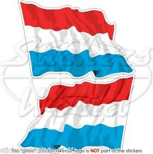 """LUXEMBOURG Luxemburg Flying Flag 75mm(3"""") Stickers x2"""