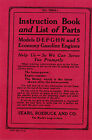 Economy  D E F G H N S gasoline Engines Instruction Manual Book Booklet Hit Miss