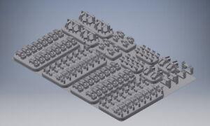 MJ 35010 1:35 3D resin print Deutsche Werkzeughalterungen für den Panzer III