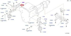 Infiniti NISSAN OEM 09-13 G37 3.7L ENGINE-Front mount bracket Right 11232JK50A
