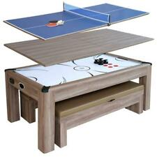 Carmelli Driftwood 7 Ft Air Hockey Table Combo Set with Benches - NG1137H