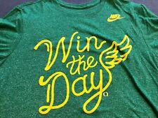 Nike Oregon Ducks Heather Green Win The Day T-Shirt Medium