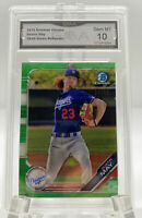 Bowman Chrome Dustin May Green Refractor #/99 #BCP 80 GMA 10 Gem Mint Rookie