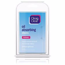 Clean & Clear Oil Absorbing Sheets Portable Travel Size 50 Sheets