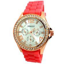 bracelet silicone fushia en vente Montres classiques | eBay