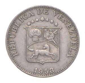 Better Date - 1958 Venezuela 12 1/2 Centimos *511