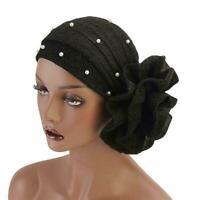 Muslim Women Flower Chemo Hat Hijab Hair Loss Head Wrap Turban Cap Scarf Z5M3
