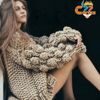 Womens Cardigan Knitted Oversize Sweater Long Sleeve Outwear Jacket Coat Fashion