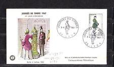 enveloppe 1er jour   journée du timbre  Lyon   1967