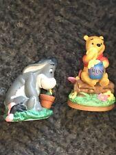 "Grolier Premium Edition Porcelain ""Winnie the Pooh & Eeyore"" Figurines"
