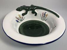 Italian Pottery Hand Painted 3D Lizard Newt Bowl Grazia Deruta Vespucci Ltd