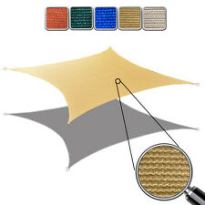 Alion Home© Sun Shade Sail - HDPE Permeable Mesh - Sand Rectangle (2 Sizes)