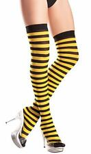 7c77d3a2efe Horizontal Striped Thigh Highs Stockings Bee Costume Hosiery Yellow Black  BW504