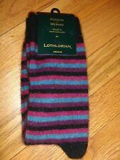 Lothlorian New Zealand made possum fur and wool men's striped socks medium New