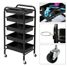 Salon Hairdresser Barber Beauty Storage 5 Tiers Trolley Drawers Colouring Cart