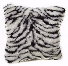 Fi708a White Zebra/Tiger Thick Faux Fur Cushion Cover/Pillow Case*Custom Size*