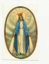 95561 SANTINO HOLY CARD Heiligenbildchen VERGINE MARIA RETRO BIANCO E' PICCOLO