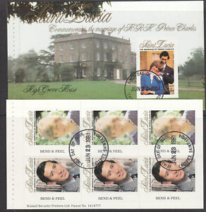 St Lucia 1981 Royal wedding booklet panes fine used