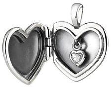 PANDORA Plain Heart Love Locket Clear CZ Necklace Pendant - 390355CZ-90