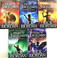 Percy Jackson & the Olympians 5 Children Book Series Collection Set