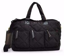 Adrienne Vittadini Quilted Nylon Black Getaway Duffle Travel Bag NWT $380
