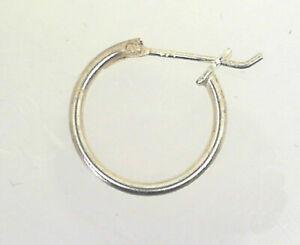 Mens Single 925 Sterling Silver 15mm Hoop Earring me003