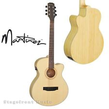 MARTINEZ BAMBOO TIMBER ACOUSTIC / ELECTRIC SMALLER BODY SOLID TOP GUITAR *NEW*