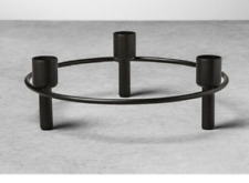 Hearth & Hand Magnolia Black Circular Candle Holder Tabletop Wire Candelabra