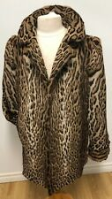 GENUINE BOBCAT Spotted  FUR COAT FOR MEN LENGTH 32''  Sz.L n.193