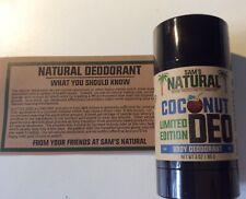 Sam's Natural Vegan Cruelty, Paraben & Aluminium-Free Deodorant * Coconut 🌴