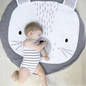 Soft Cotton Baby Game Activity Play Mat Crawling Blanket Game Mat Nursery Decor