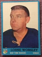 1962-63 Topps #45 LORNE GUMP WORSLEY~EX+ *NO CREASES**NO WRINKLES*