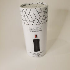 New listing New Brumate Hopsulator Twist Matte Black aluminum bottle cozy insulator