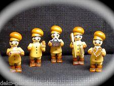 5 Figure Inverno Baker bambini dell'INVERNO panetteria NATURA PER BRICOLAGE