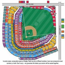2 to 4 Tickets Chicago Cubs vs St. Louis Cardinals 7/21 Wrigley Field