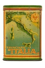 "Scarce 1920s ""Italia Trinciato"" litho pocket tobacco tin in excellent condition"